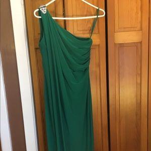 Ralph Lauren, long off the shoulder dress.